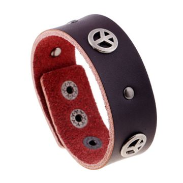 SUKKHI | Sukkhi Gorgeous Adjustable Brown Leather Bracelet for Men