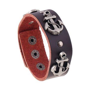 SUKKHI | Sukkhi Cluster Leather Brown Adjustable Bracelet for Men