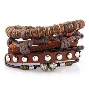 SUKKHI | Sukkhi Adjustable Eye-catchy Brown Leather Bracelet for Men