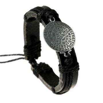 SUKKHI | Sukkhi Modern Adjustable Fashion Leather Black Bracelet for Men