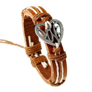 SUKKHI | Sukkhi Modish Adjustable Leather Bracelet for Men