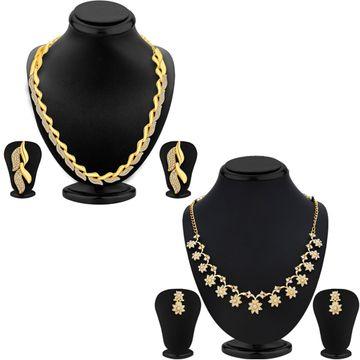 SUKKHI | Sukkhi Modish Gold Plated Austrian Diamond Necklace Set Combo For Women