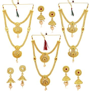 SUKKHI | Sukkhi Exclusive Pearl Gold Plated Long Haram Necklace Set Combo For Women