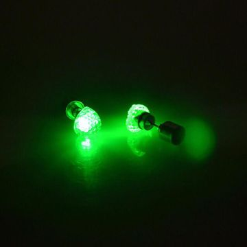 SUKKHI | Sukkhi Modish Green Heart Shaped Led Colorful Party Dance Unisex Stud Earring