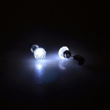 SUKKHI | Sukkhi Sleek Round Crystal Led Colorful Party Dance Unisex Stud Earring