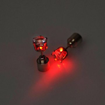 SUKKHI | Sukkhi Stylish Red Round Shaped Led Colorful Party Dance Unisex Stud Earring