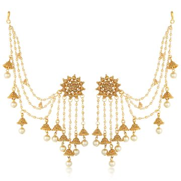 SUKKHI | Sukkhi Ethnic Gold Plated Bahubali Inspired Long Chain Jhumki Earrings For Women