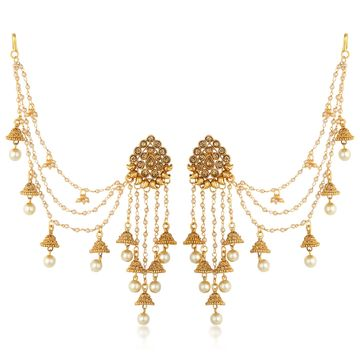 SUKKHI | Sukkhi Traditional Gold Plated Bahubali Inspired Long Chain Jhumki Earrings For Women