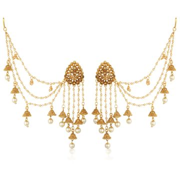 SUKKHI | Sukkhi Incredible Gold Plated Bahubali Inspired Long Chain Jhumki Earrings For Women