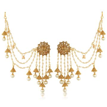 SUKKHI | Sukkhi Attractive Gold Plated Bahubali Inspired Long Chain Jhumki Earrings For Women