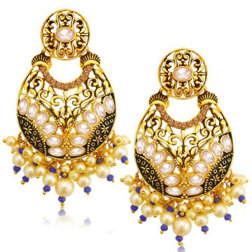 SUKKHI | Sukkhi Classic LCT Gold Plated Pearl Chandelier Earring For Women