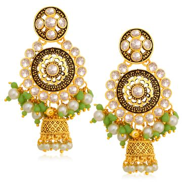 SUKKHI   Sukkhi Charming Gold Plated Pearl Jhumki Earring For Women