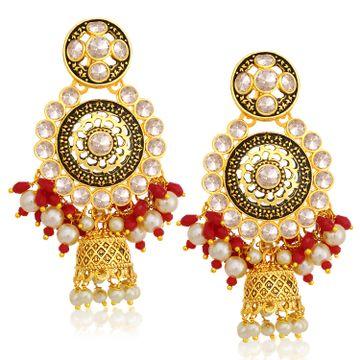 SUKKHI   Sukkhi Spectacular Gold Plated Pearl Jhumki Earring For Women
