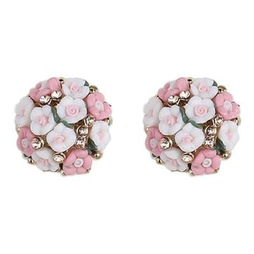 SUKKHI | Sukkhi Astonish Crystals from Swarovski Stud Gold Plated Floral Earring for Women and Girls