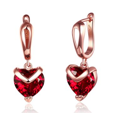 SUKKHI | Sukkhi Pretty Crystals from Swarovski Drop Down Gold Plated Heart Earring for Women and Girls