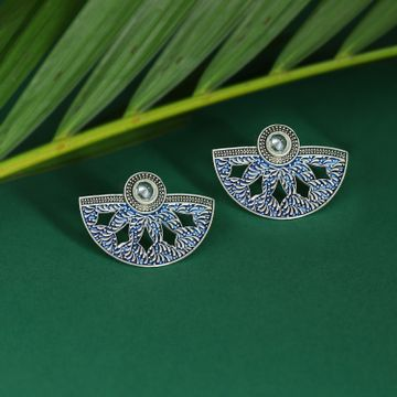 SUKKHI | Sukkhi Elegant Mint Collection Oxidised Plated Stud Earring For Women