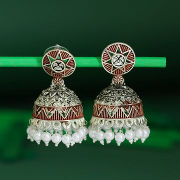 SUKKHI | Sukkhi Trendy Oxidised Mint Collection Pearl Jhumki Earring For Women