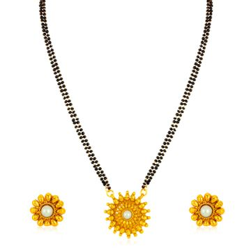 SUKKHI | Sukkhi Lavish Gold Plated Floral Mangalsutra for Women