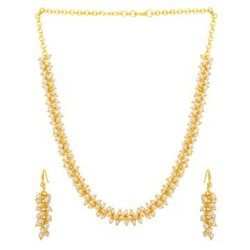 SUKKHI | Sukkhi Astonish Gold Plated Pearl Necklace Set For Women