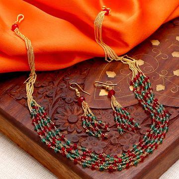 SUKKHI | Sukkhi Astonish Gold Plated Multicolour Necklace Set For Women
