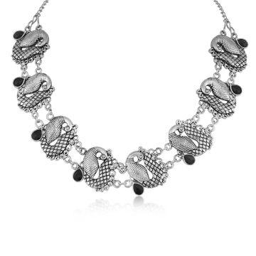 SUKKHI | Sukkhi Fascinating Oxidised Peacock Necklace For Women
