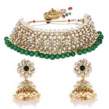 SUKKHI | Sukkhi Exclusive Kundan Gold Plated Choker Neckalce Set for Women