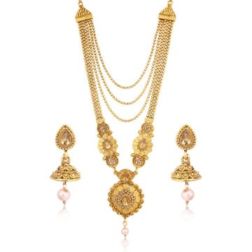 SUKKHI | Sukkhi Traditional LCT Gold Plated Long Haram Necklace Set for women