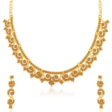 SUKKHI | Sukkhi Classy Gold Plated LCT Stone Necklace Set for Women