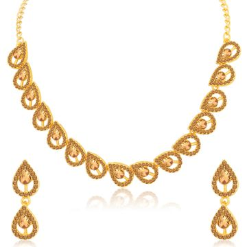 SUKKHI | Sukkhi Attractive Gold Plated LCT Stone Necklace Set for Women