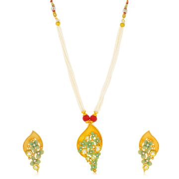 SUKKHI | Sukkhi Stylish Gold Plated Floral Collar Necklace Set for Women