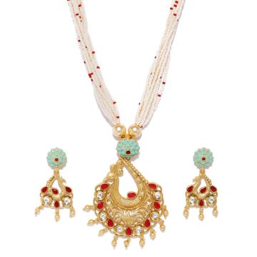 SUKKHI | Sukkhi Mint Kundan Perl Gold Plated Neckalce Set