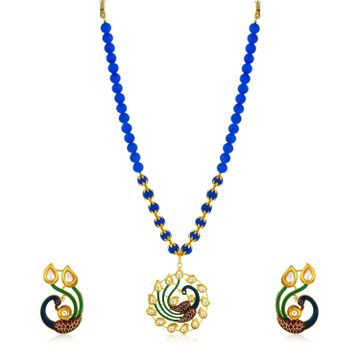 SUKKHI | Sukkhi Glitzy Collar Gold Plated Necklace Set for Women