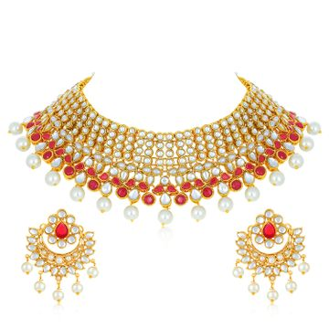 SUKKHI | Sukkhi Designer Gold Plated Necklace Set for Women