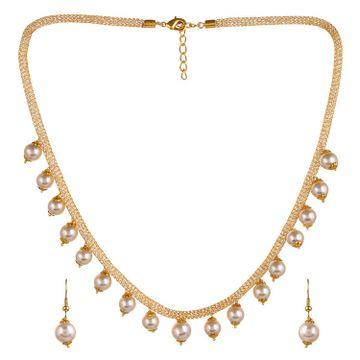 SUKKHI | Sukkhi Adorable Gold Plated Pearl Choker Necklace Set For Women