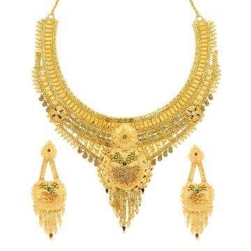SUKKHI | Sukkhi Ravishing 24 Carat Gold Plated Meenakari Choker Necklace Set For Women