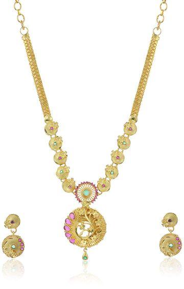SUKKHI | Sukkhi Mesmerizing 24 Carat Gold Plated Necklace Set For Women