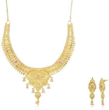SUKKHI | Sukkhi Gorgeous 24 Carat Gold Plated Choker Necklace Set For Women