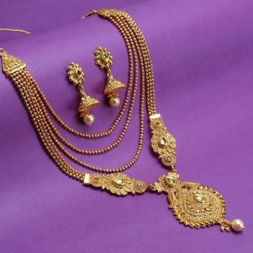 SUKKHI | Sukkhi Classic Pearl Gold Plated LCT Stone Long Haram Necklace Set For Women