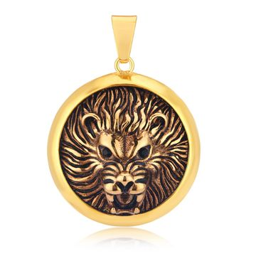 SUKKHI | Sukkhi Appealing Gold Plated Lion Faced Pendant for Men