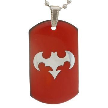SUKKHI | Sukkhi Batman Dog Tag With Ball Chain Pendant With Chain For Men