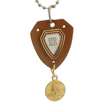 SUKKHI   Sukkhi Classic Gold Plated Shield Shaped Pendant With Chain For Men