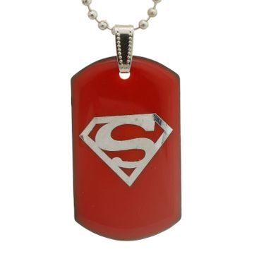 SUKKHI | Sukkhi Charming Superman Dog Tag Pendant With Chain For Men