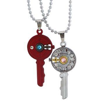 SUKKHI | Sukkhi Exclusive Key With Female Symbol 2 Pcs Pendant With Chain For Men
