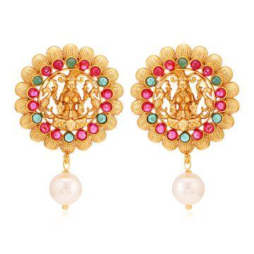 SUKKHI | Sukkhi Sober Gold Plated Goddess Laxmi Earring for Women