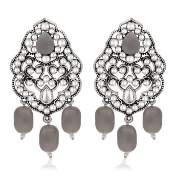 SUKKHI | Sukkhi Glimmery Rhodium Plated Dangle Earring For Women
