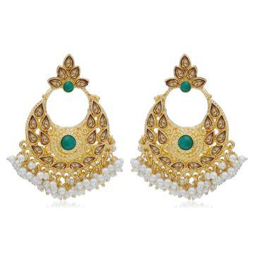 SUKKHI | Sukkhi Delightful LCT Gold Plated Pearl Chandbali Earring For Women