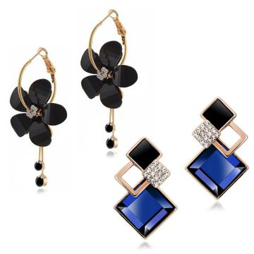 SUKKHI | Sukkhi Elegant Gold Plated Floral Dangle Earring Combo For Women