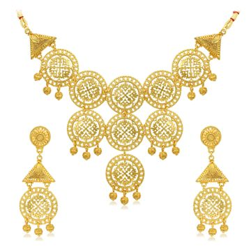 SUKKHI | Sukkhi Fancy 24 Carat Gold Plated Choker Necklace Set for Women