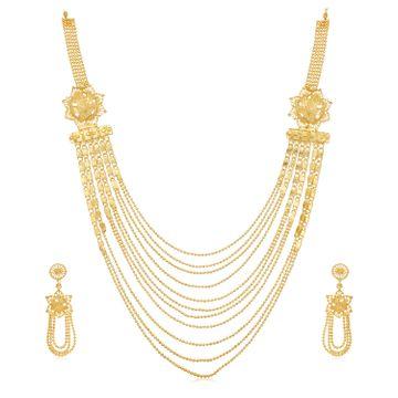 SUKKHI | Sukkhi Glittery 24 Carat Gold Plated Multi-String Necklace Set for Women