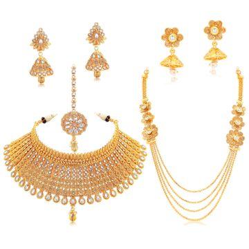 SUKKHI | Sukkhi Elegant Austrian Diamond Gold Plated Kundan Combo of 2 Necklace Set for Women
